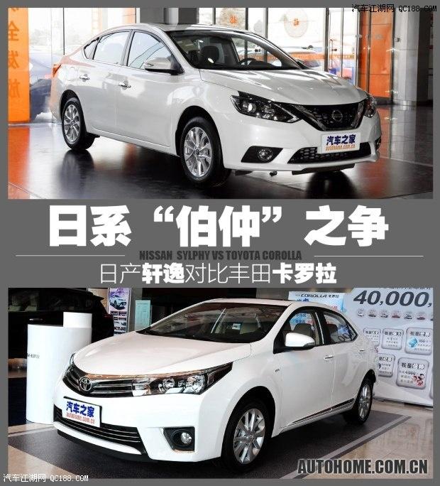 款车分别是两个车型中1.6L的高配车型,两者的指导价相差五千元,高清图片