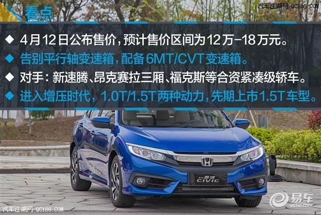 2016款本田思域全国最低价格北京最高优惠4万元高清图片