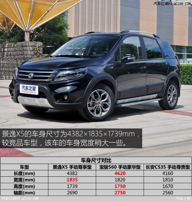 2016款东风风行景逸x5最低售价多少钱北京东风4s店最高优惠多少钱