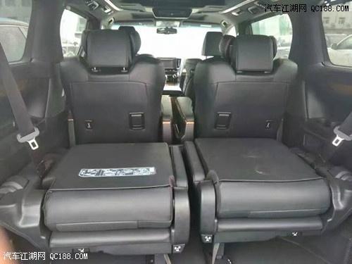 2016款丰田埃尔法后排座椅的宽大舒适,腿部支撑,脚踏板,加宽的头枕
