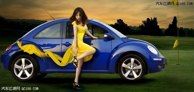 17款大众甲壳虫以小车的车型做最大的优惠促销直降5万高清图片