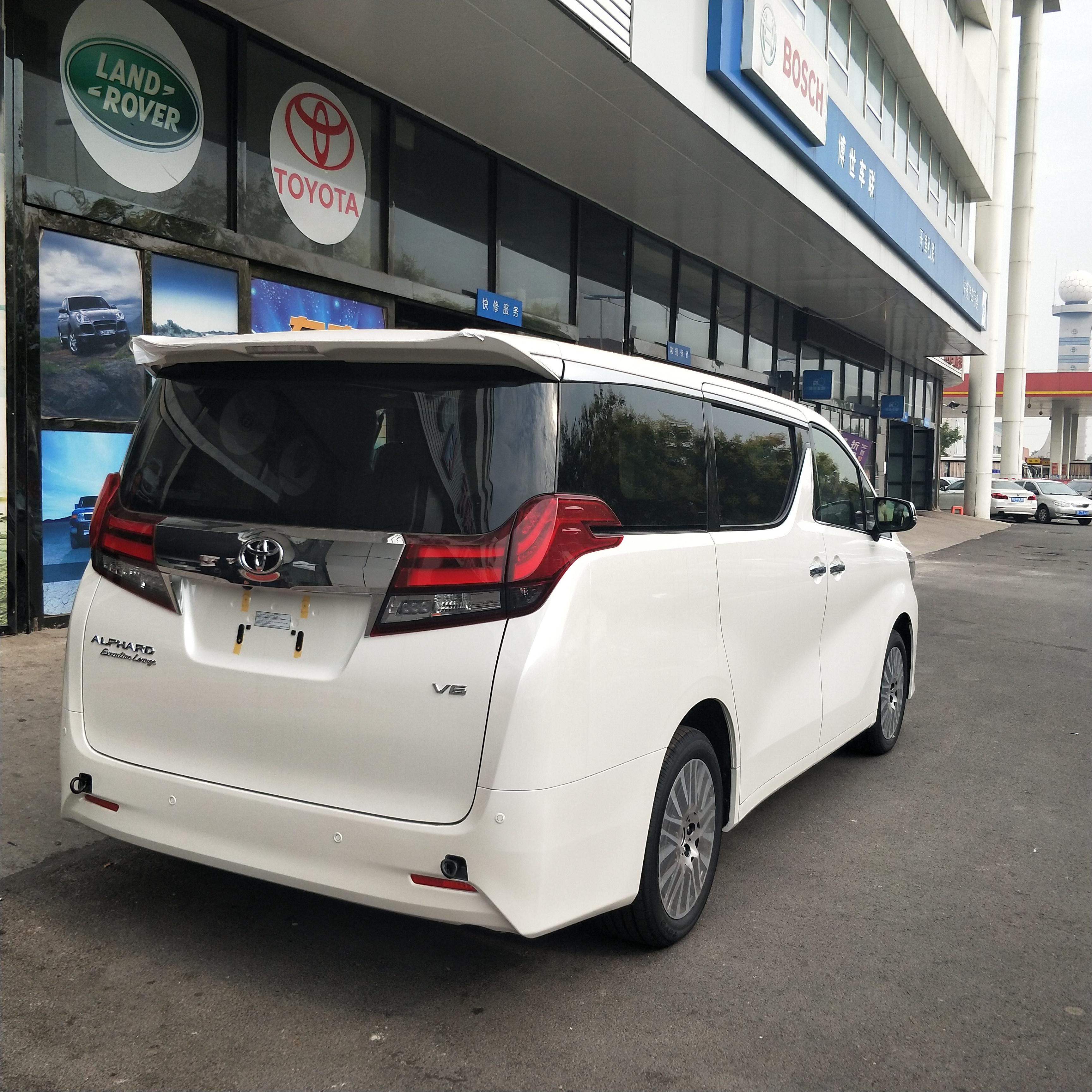 18款进口丰田埃尔法新到港奢华7座商务车老板座驾图片
