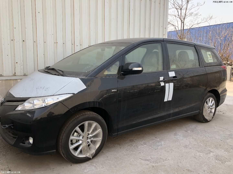 天津港现车促销 18中东丰田普瑞维亚豪华2.4l顶配七座