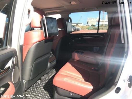 进口20款加版雷克萨斯LX570 黑/红配置