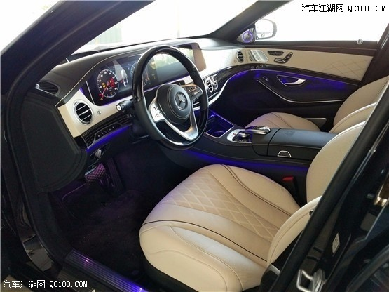 天津港2019款迈巴赫S650多少钱 米色内饰大气